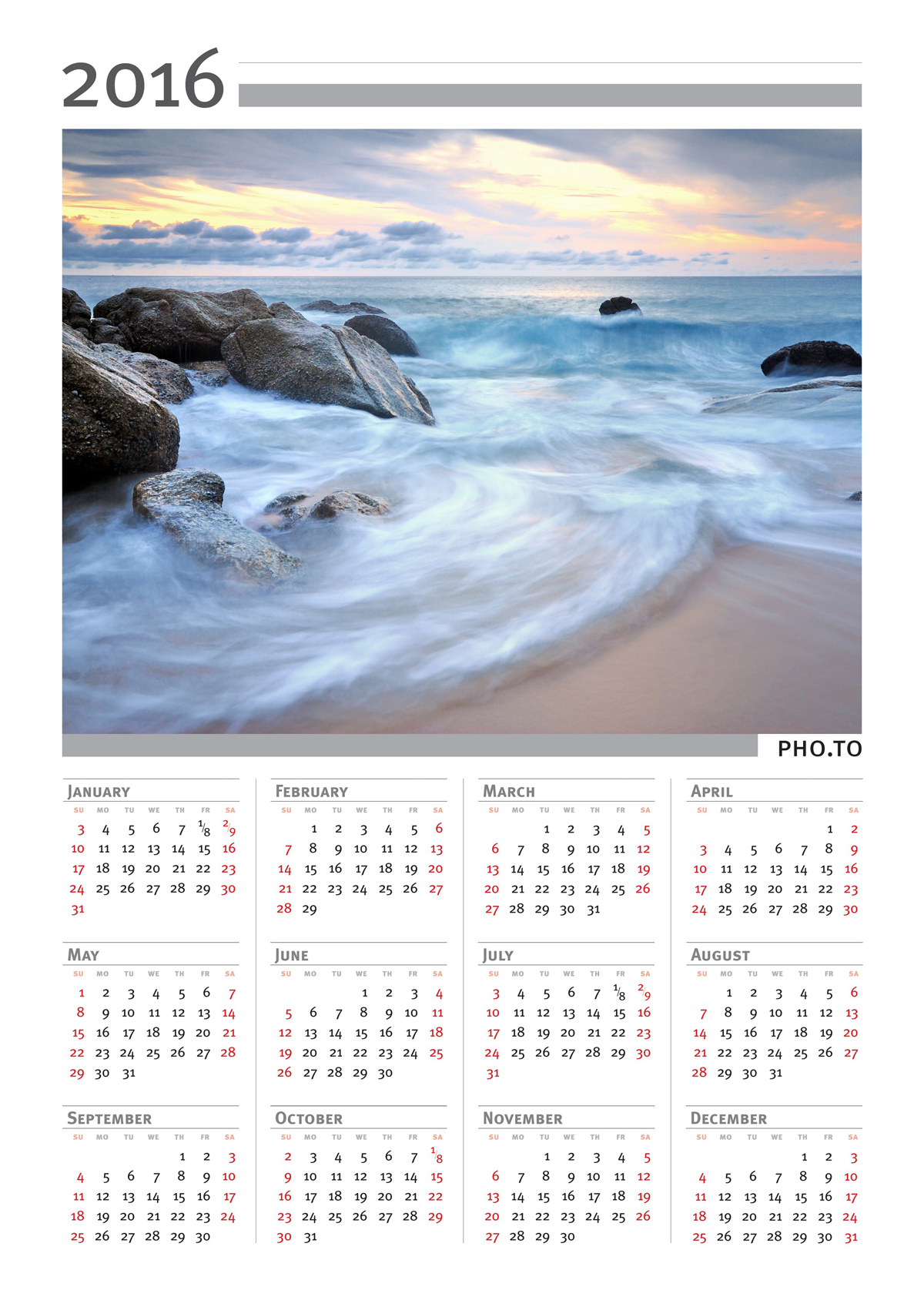 Make Your Own Free 2016 Calendar Calendar Template 2016