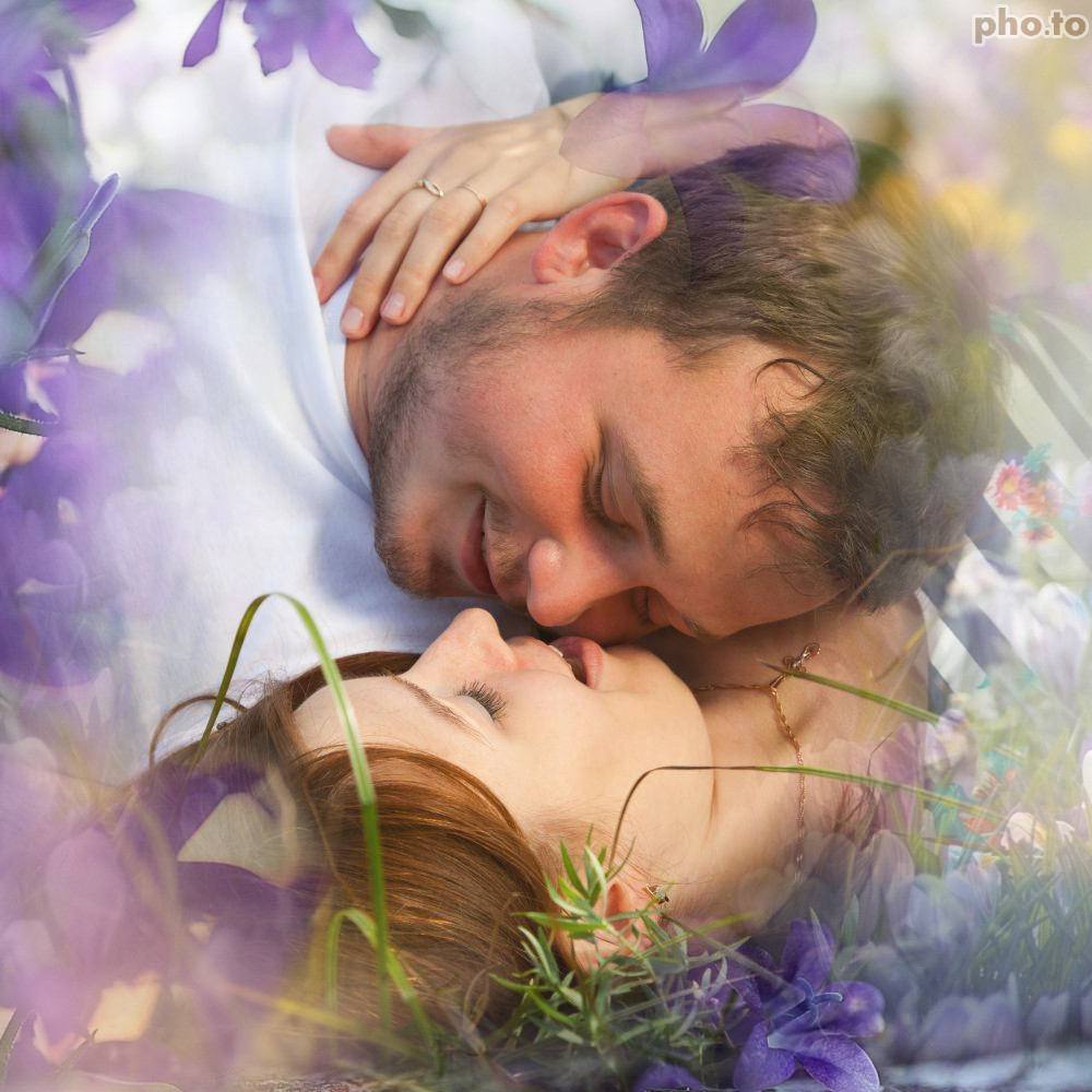 Free photo background with fantasy flowers applied to romantic photo